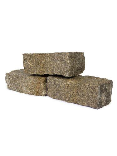 Mauersteine Graniet Gelb naß