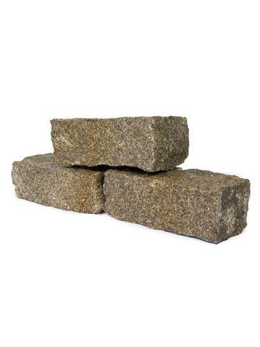 Muurblokken graniet geel (nat)