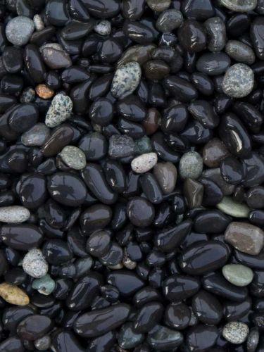 Piedra de mar negra 5 - 8mm mojada