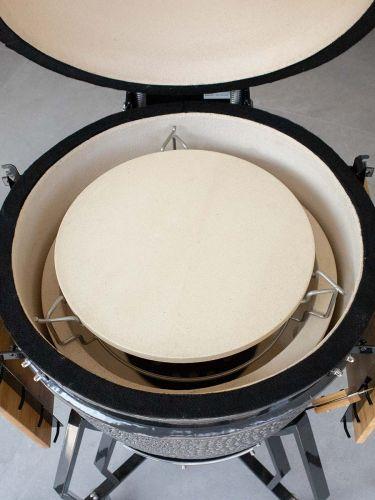 Plate setter Large 38cm geplaatst in een BBQ
