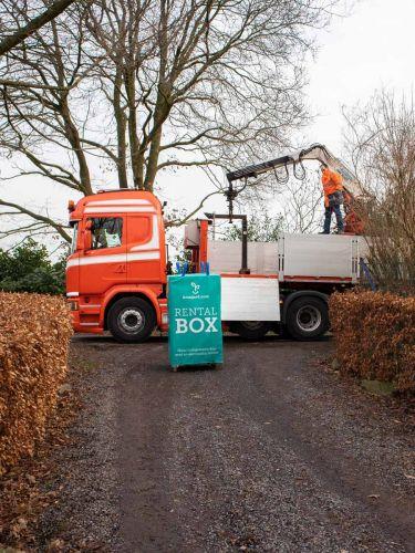 RentalBox Bestrating levering en ophaling
