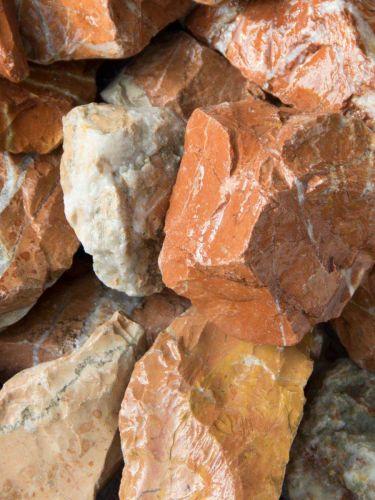 Rocalla Roja Mármol 40 - 60mm (4 - 6cm) mojada
