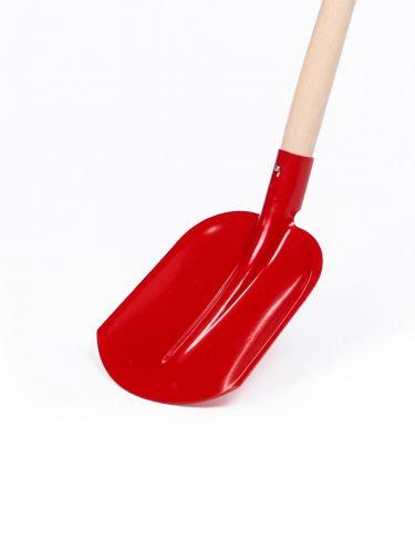 Schop (Drents model) met steel 98cm rood