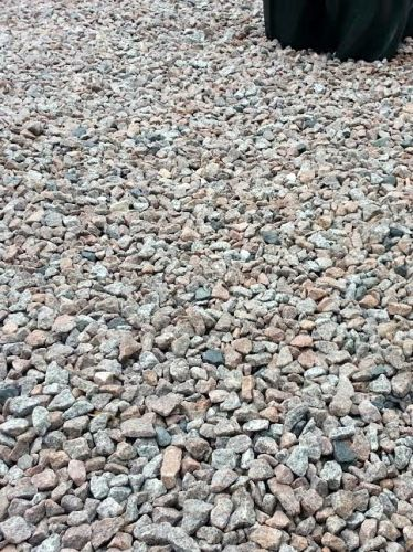 Schots graniet 8 - 16mm aangelegd