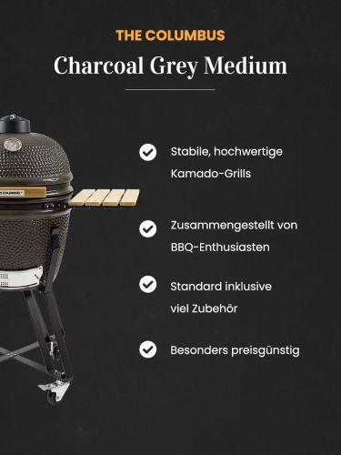 The Columbus Kamado Grill Medium Charcoal Grey Vorteile