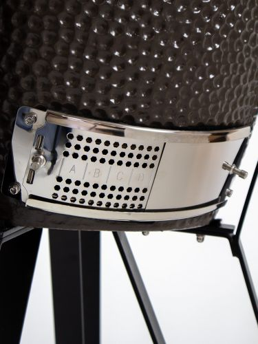 The Columbus Medium Grey Compleet Kamado ventilatierooster onder