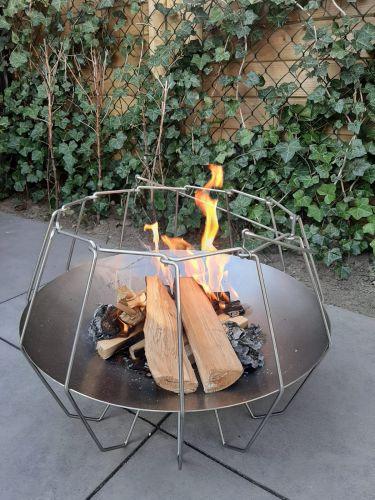 Mood&Fire Brasero LOW 37cm alto detalle