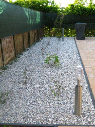Witte grind aangelegd