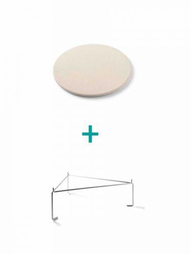 Yakiniku Deflektorstein mit Distanzstück Medium
