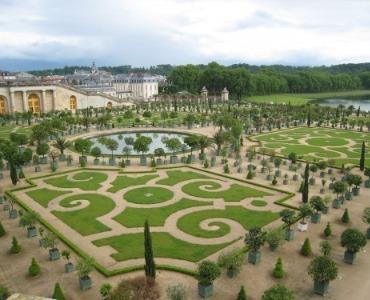 Der französischen Garten: Symmetrie aus Kies, Wasser und Skulpturen