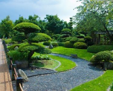 Japanischer garten anlegen: Grün, Kies und Wasser!