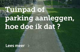 tuinpad of parking aanleggen
