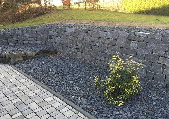Steingarten Basalt Splitt