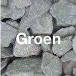 Groen grind-split