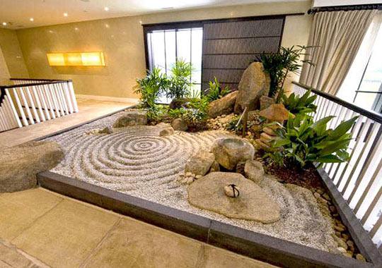 Ejemplo de jardín japonés interior