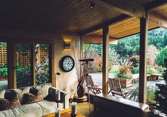 Jardín interior-exterior