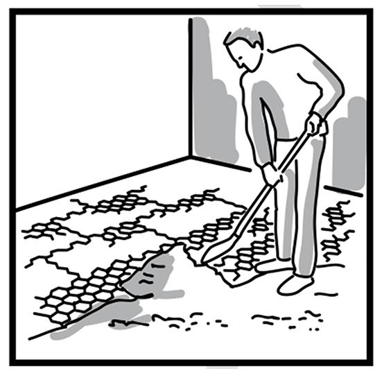 Grindmatten aanleggen: het vullen